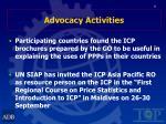 advocacy activities25