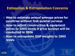 estimation extrapolation concerns19