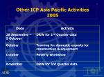 other icp asia pacific activities 2005