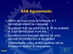 rab agreements