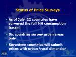 status of price surveys8