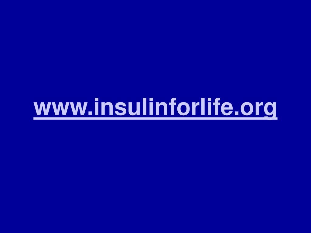www.insulinforlife.org