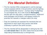 fire marshal definition