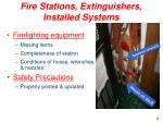 fire stations extinguishers installed systems