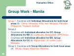 group work manila