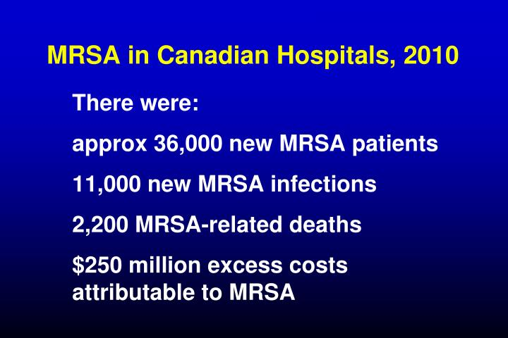 MRSA in Canadian Hospitals, 2010