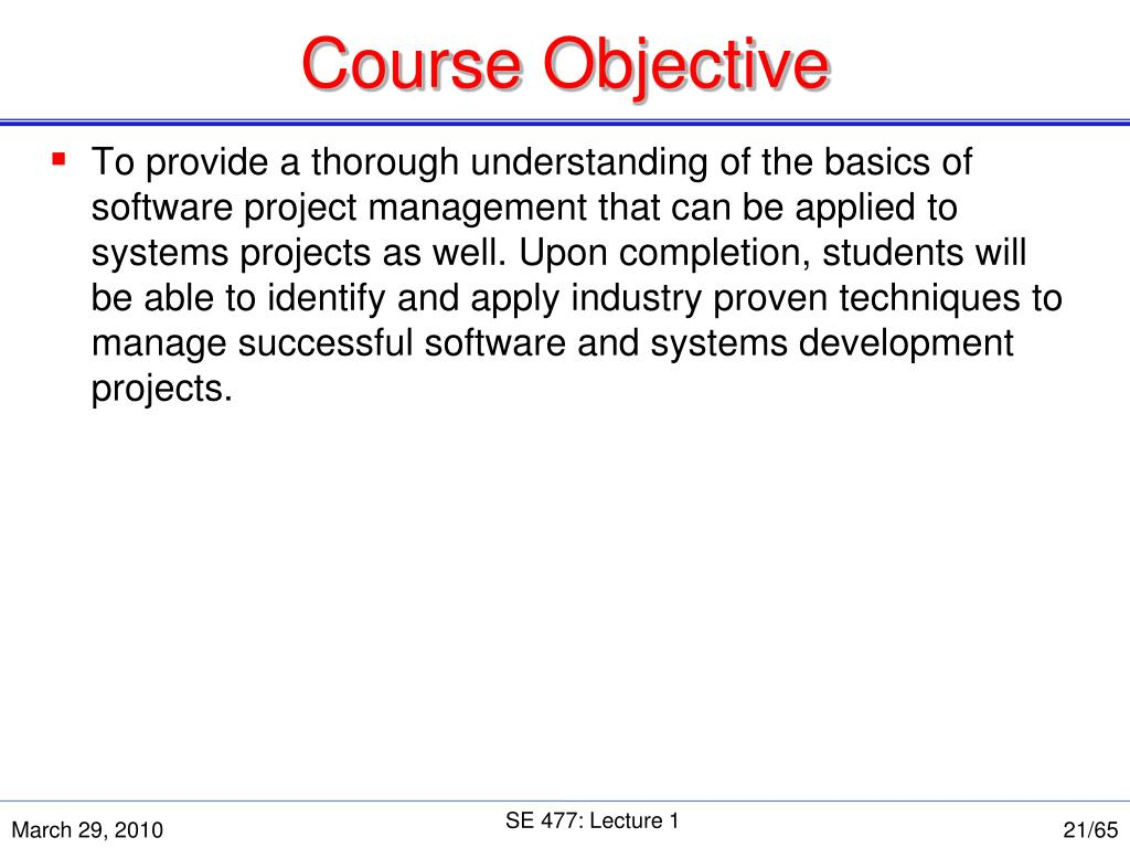 Course Objective