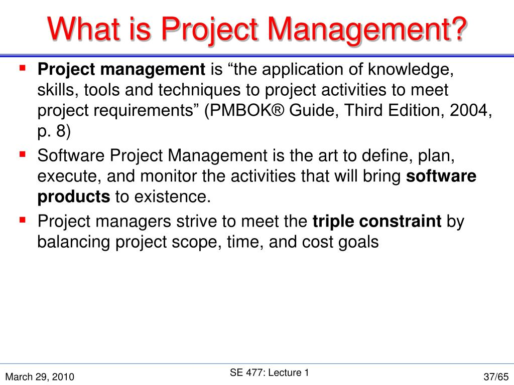 What is Project Management?