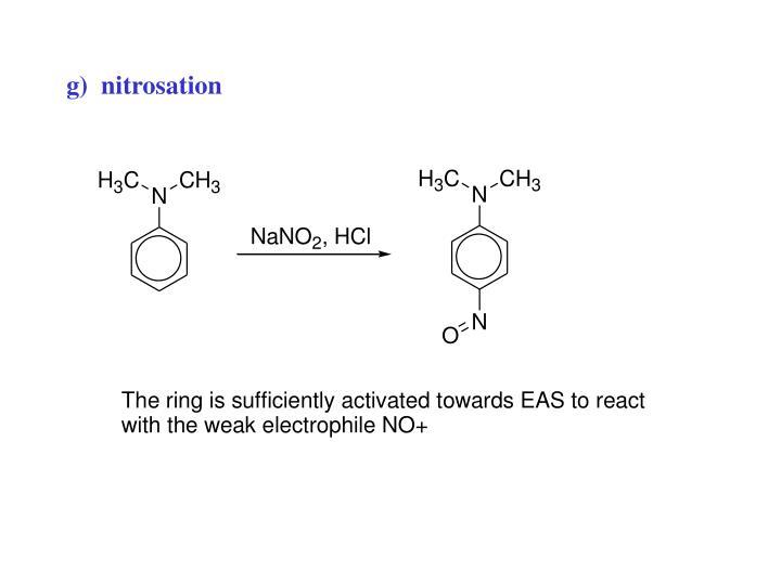 g)  nitrosation