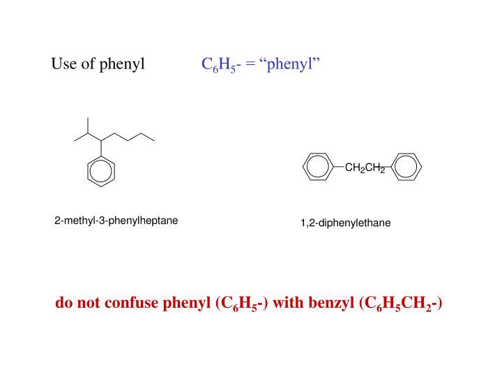 Use of phenyl