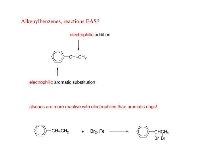 Alkenylbenzenes, reactions