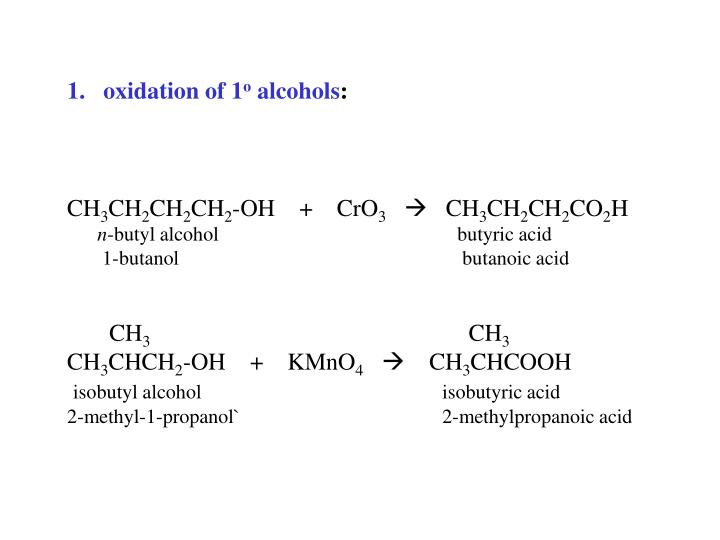 oxidation of 1