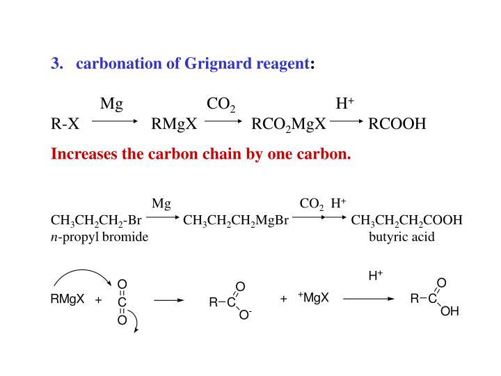carbonation of Grignard reagent