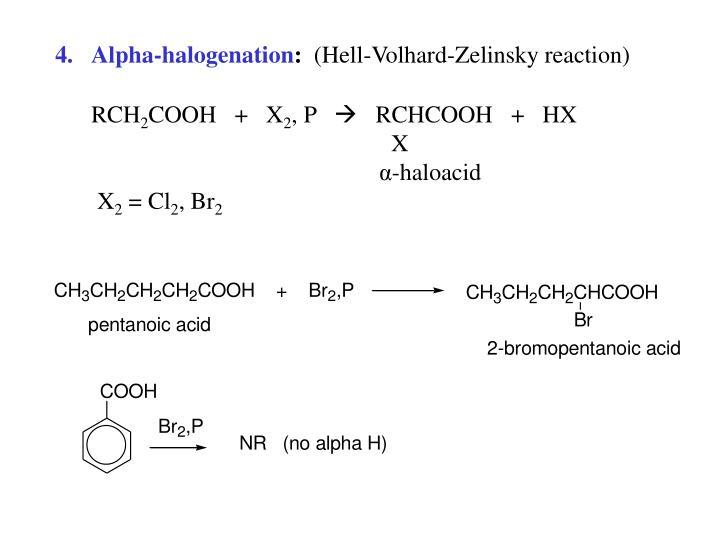 Alpha-halogenation