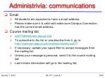 administrivia communications