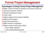 formal project management