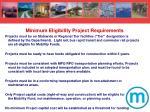 minimum eligibility project requirements