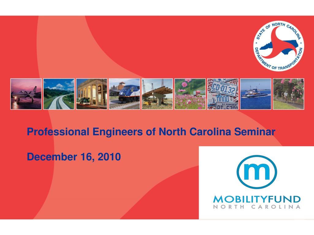 professional engineers of north carolina seminar december 16 2010 l.