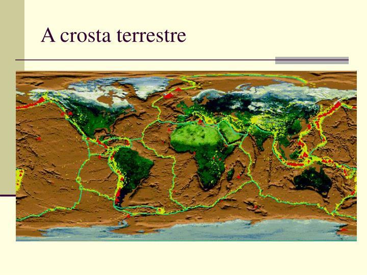 A crosta terrestre