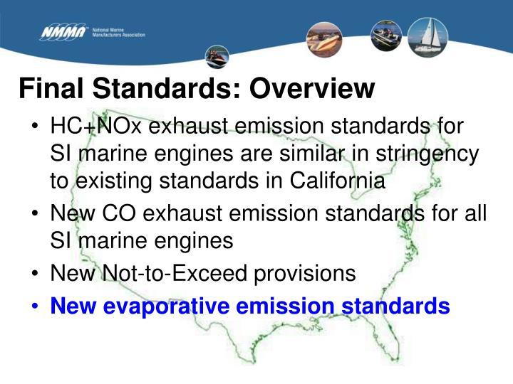 Final Standards: Overview