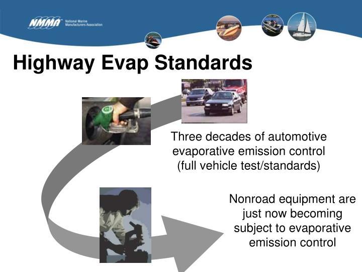 Highway Evap Standards