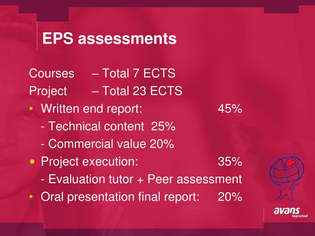 EPS assessments