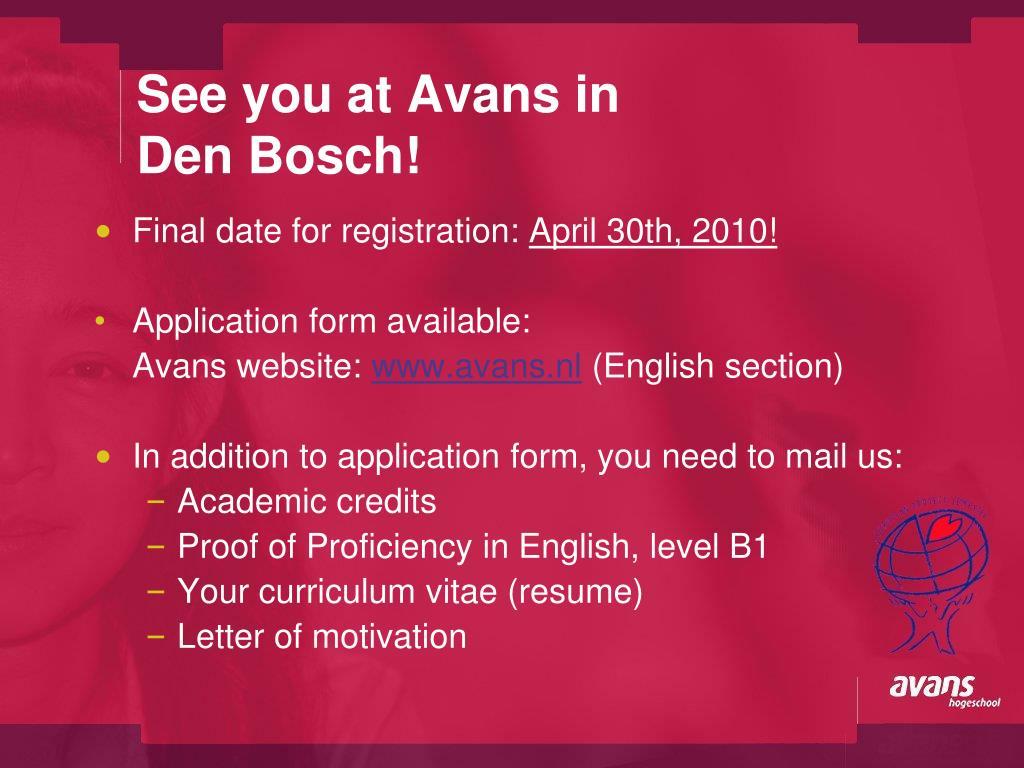 See you at Avans in