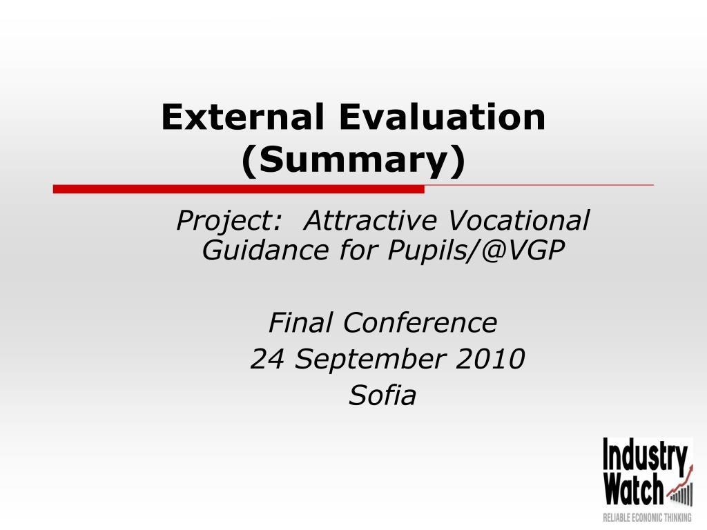 external evaluation summary l.