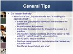 general tips10