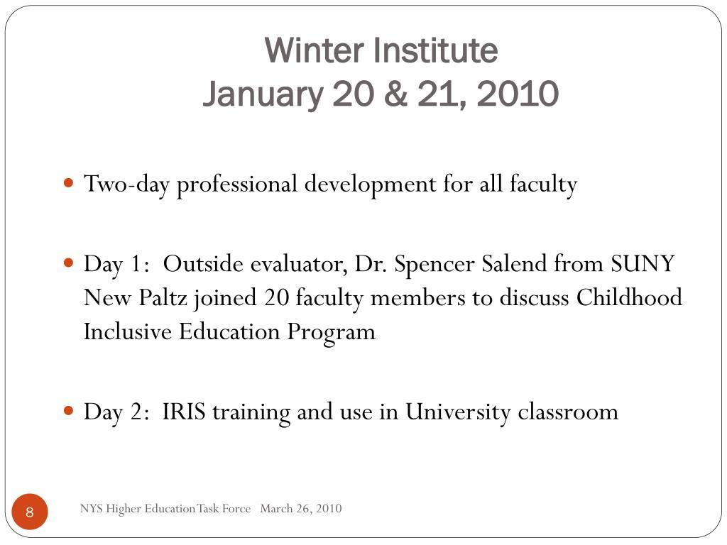 Winter Institute