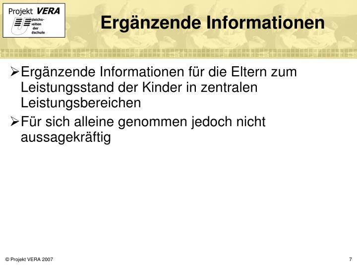 Ergänzende Informationen