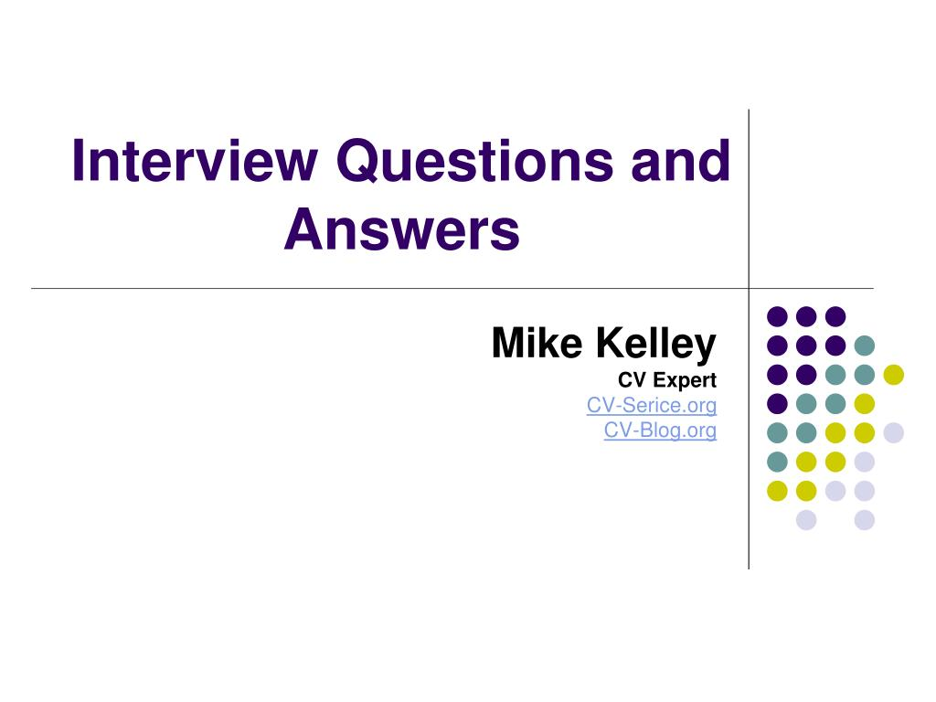 interview questions and answers l.