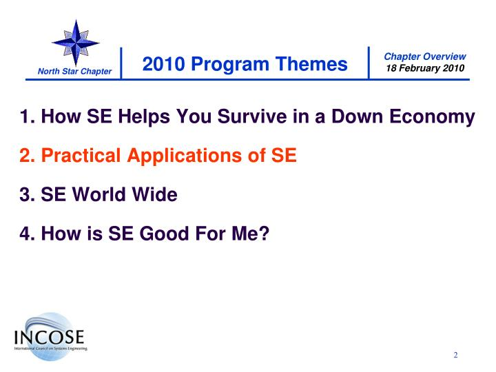 2010 program themes
