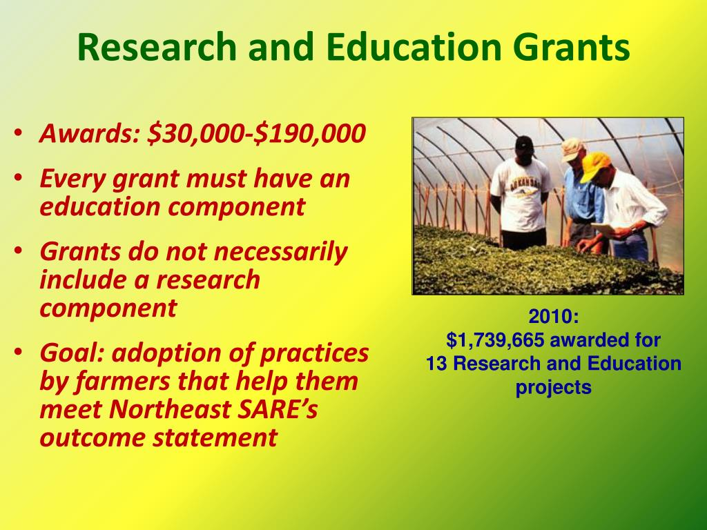 Research and Education Grants
