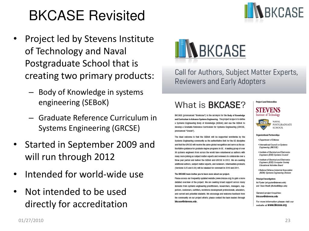 BKCASE Revisited