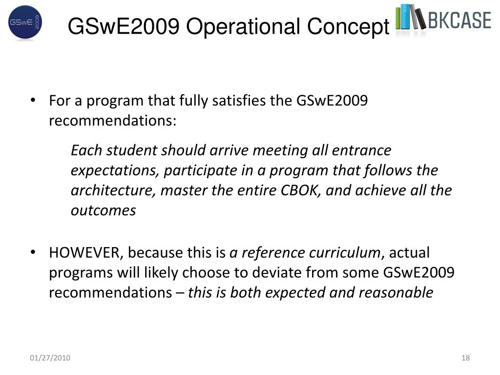 GSwE2009 Operational Concept