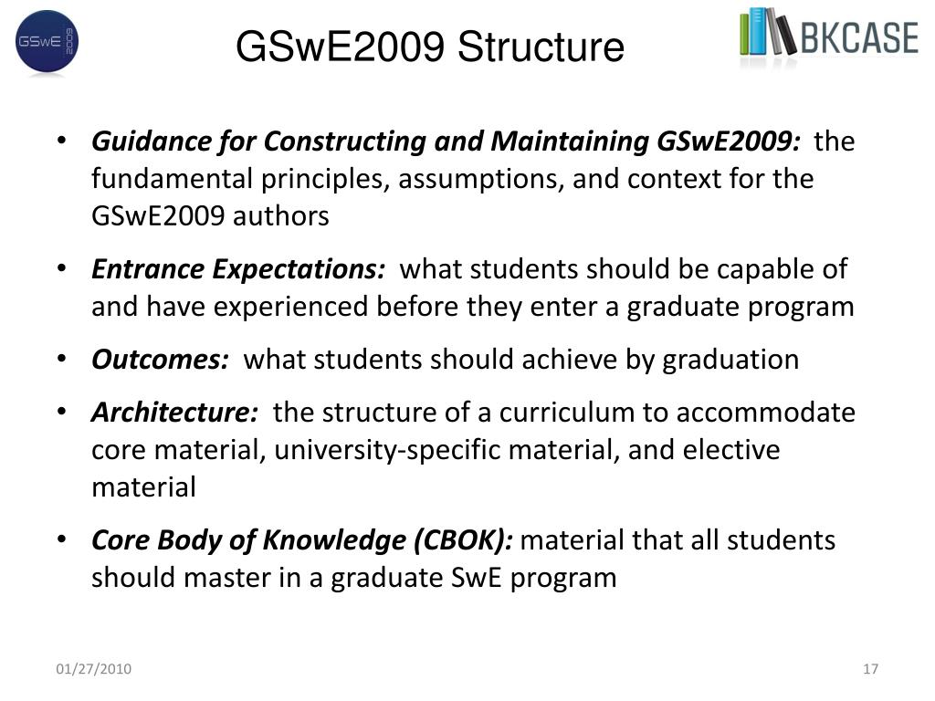 GSwE2009 Structure