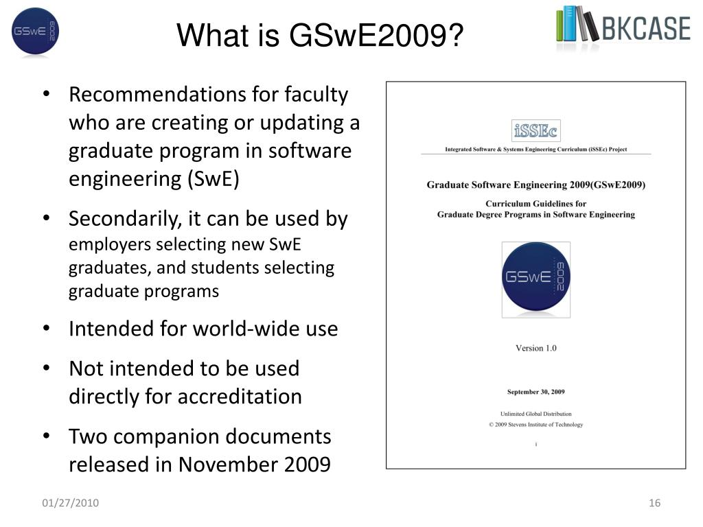 What is GSwE2009?