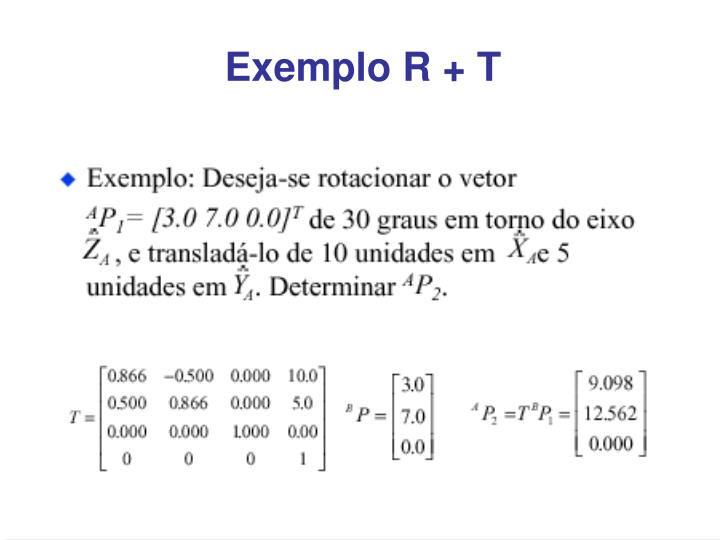 Exemplo R + T