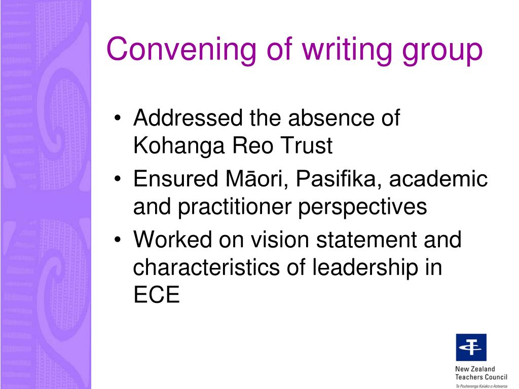 Convening of writing group