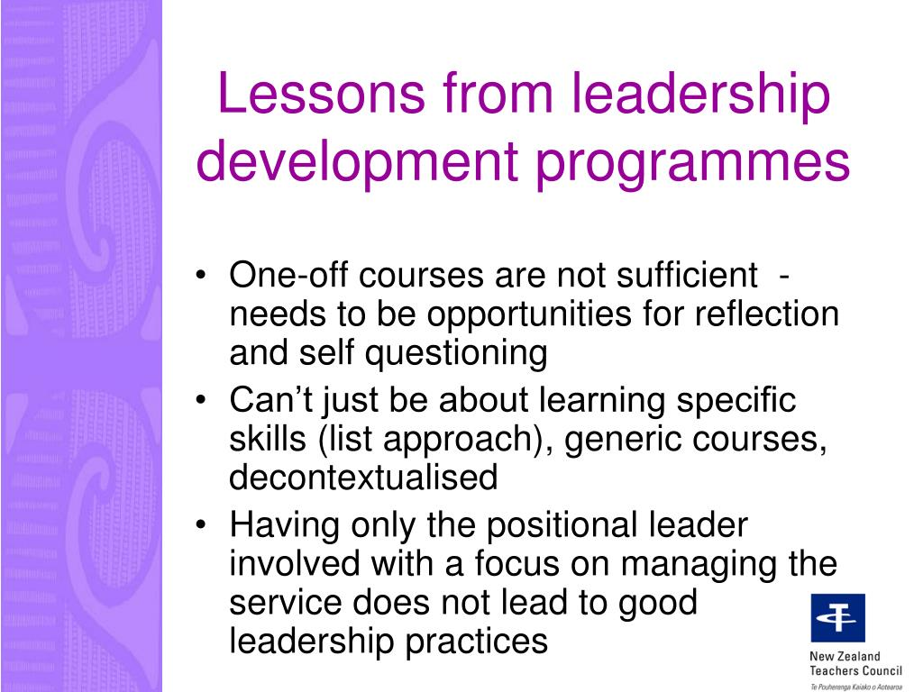 Lessons from leadership development programmes