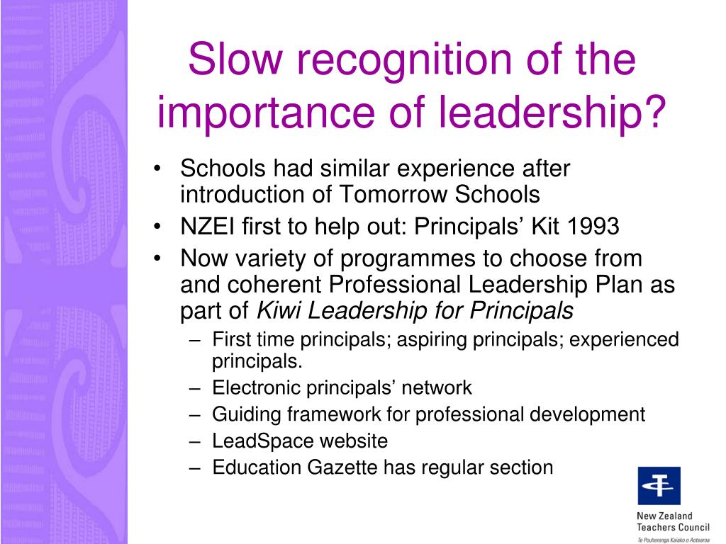 Slow recognition of the importance of leadership?