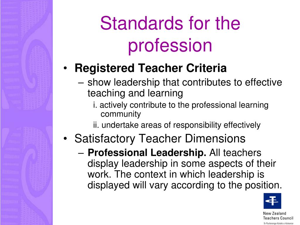 Standards for the profession