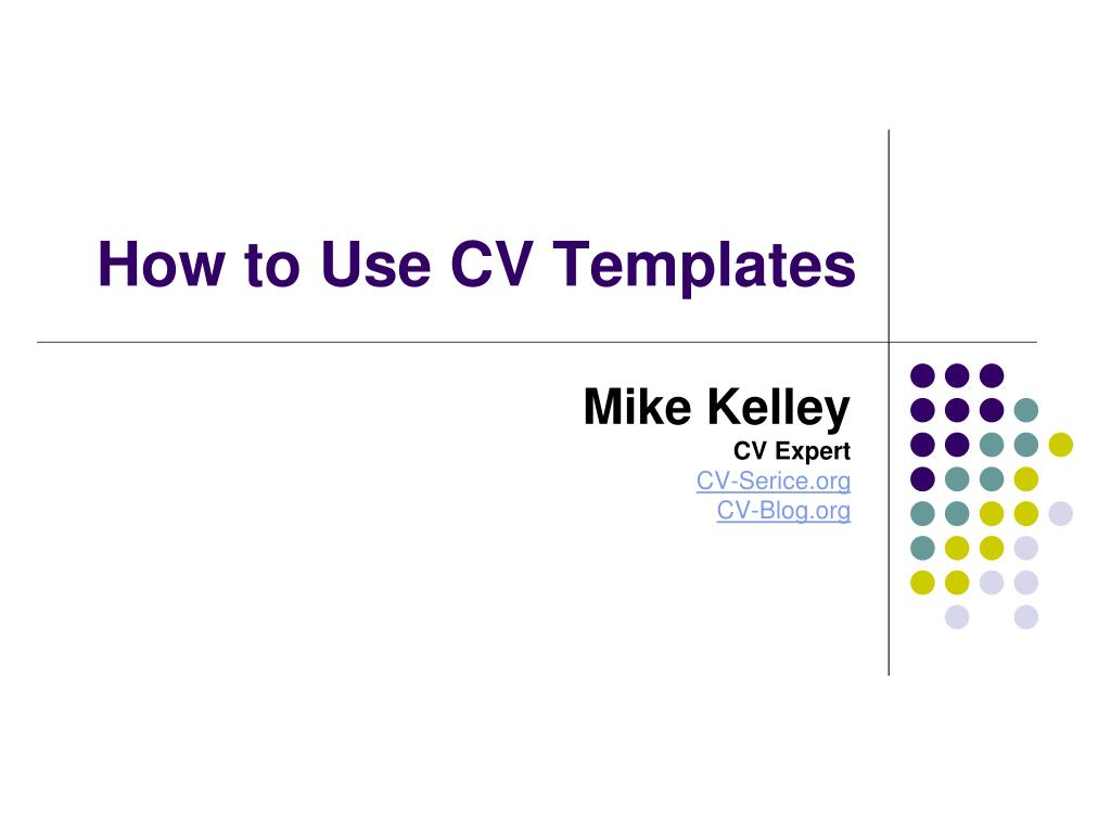 how to use cv templates l.