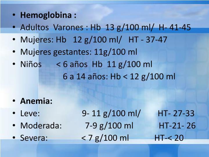 Hemoglobina :