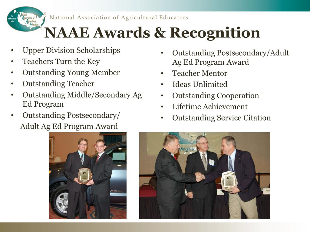 NAAE Awards & Recognition