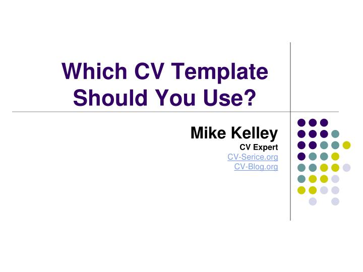Which cv template should you use