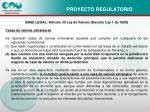 proyecto regulatorio1