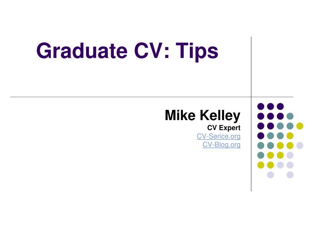 Graduate CV: Tips