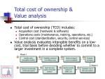 total cost of ownership value analysis